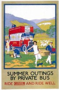 Vintage London underground poster - Summer outings